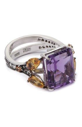 Женское кольцо dandelion day QUEENSBEE фиолетового цвета, арт. 108284-2/8,51   Фото 1