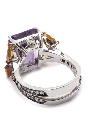 Женское кольцо dandelion day QUEENSBEE фиолетового цвета, арт. 108284-2/8,51   Фото 2
