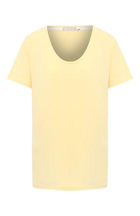 Женская хлопковая футболка MEY желтого цвета, арт. 16 387 | Фото 1