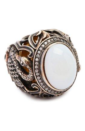 Женское кольцо swan QUEENSBEE разноцветного цвета, арт. 102095/25,77 | Фото 1
