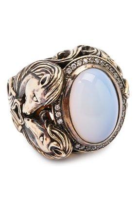 Женское кольцо horse QUEENSBEE разноцветного цвета, арт. 102120/22,85   Фото 1