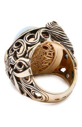 Женское кольцо horse QUEENSBEE разноцветного цвета, арт. 102120/22,85   Фото 2