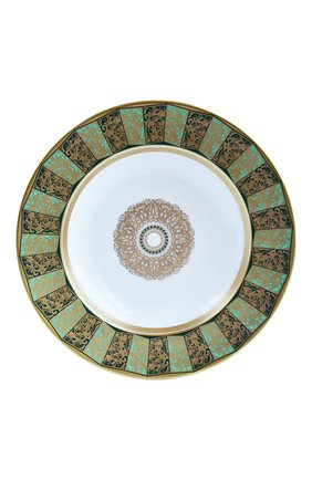 Мужского суповая тарелка eventail vert BERNARDAUD зеленого цвета, арт. 1848/21461   Фото 1