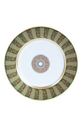 Тарелка для хлеба и масла eventail vert  BERNARDAUD зеленого цвета, арт. 1848/21460 | Фото 1