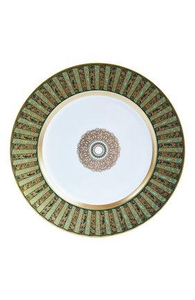 Мужского обеденная тарелка eventail vert  BERNARDAUD зеленого цвета, арт. 1848/21469   Фото 1