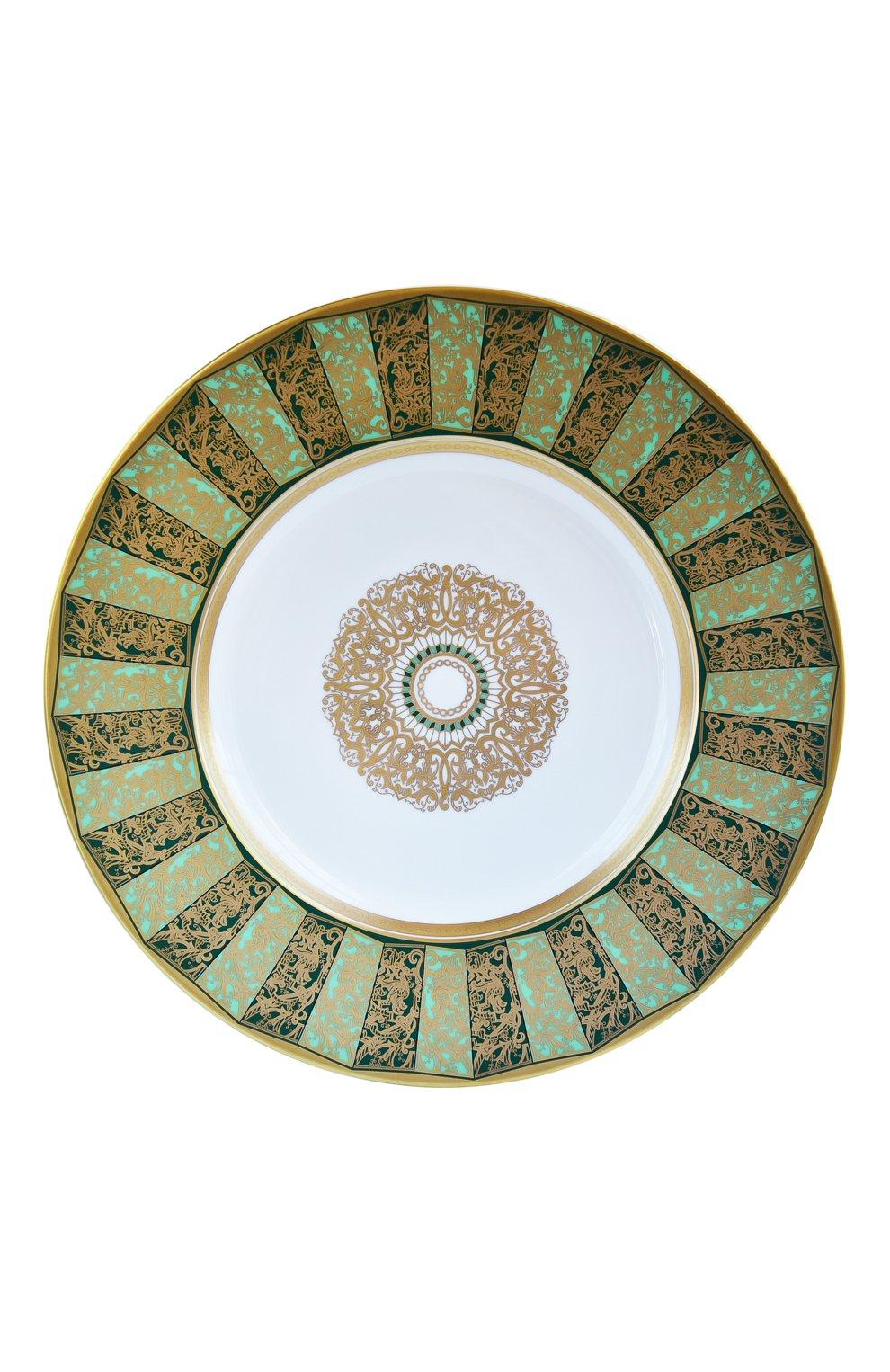 Мужского сервировочная тарелка eventail vert  BERNARDAUD зеленого цвета, арт. 1848/6189   Фото 1