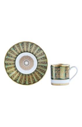 Мужского кофейная чашка с блюдцем eventail vert  BERNARDAUD зеленого цвета, арт. 1848/79 | Фото 2