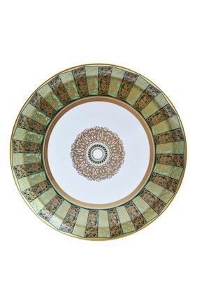 Мужского блюдо для торта круглое eventail vert BERNARDAUD зеленого цвета, арт. 1848/21267 | Фото 1