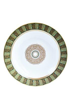 Глубокое блюдо eventail vert  BERNARDAUD зеленого цвета, арт. 1848/21467 | Фото 1