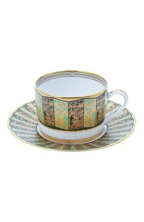 Чайная чашка с блюдцем eventail vert  BERNARDAUD зеленого цвета, арт. 1848/91 | Фото 1