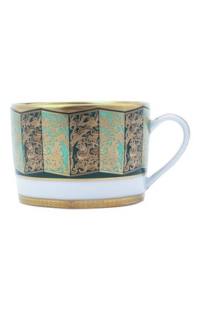 Чайная чашка с блюдцем eventail vert  BERNARDAUD зеленого цвета, арт. 1848/91 | Фото 2