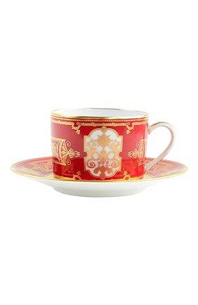 Чайная чашка с блюдцем aux rois rouge BERNARDAUD красного цвета, арт. G653/91 | Фото 1