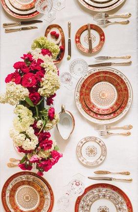 Чайная чашка с блюдцем aux rois rouge BERNARDAUD красного цвета, арт. G653/91 | Фото 2