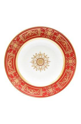Мужского суповая тарелка aux rois rouge BERNARDAUD красного цвета, арт. G653/23   Фото 1