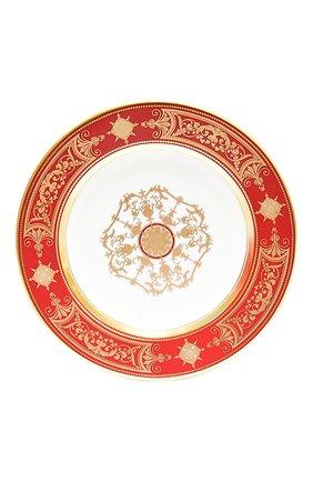 Мужского тарелка для хлеба и масла aux rois rouge BERNARDAUD красного цвета, арт. G653/3   Фото 1