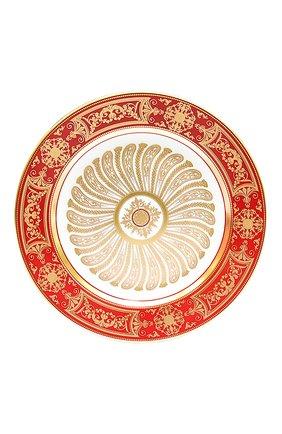 Мужского салатная тарелка aux rois rouge  BERNARDAUD красного цвета, арт. G653/17   Фото 1
