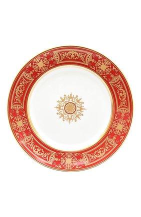 Мужского обеденная тарелка aux rois roug BERNARDAUD красного цвета, арт. G653/13   Фото 1