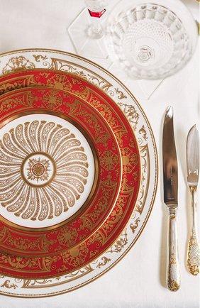 Мужского обеденная тарелка aux rois roug BERNARDAUD красного цвета, арт. G653/13   Фото 2