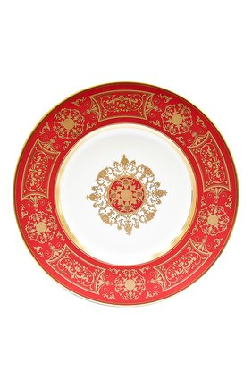 Мужского сервировочная тарелка aux rois rouge BERNARDAUD красного цвета, арт. G653/6189 | Фото 1