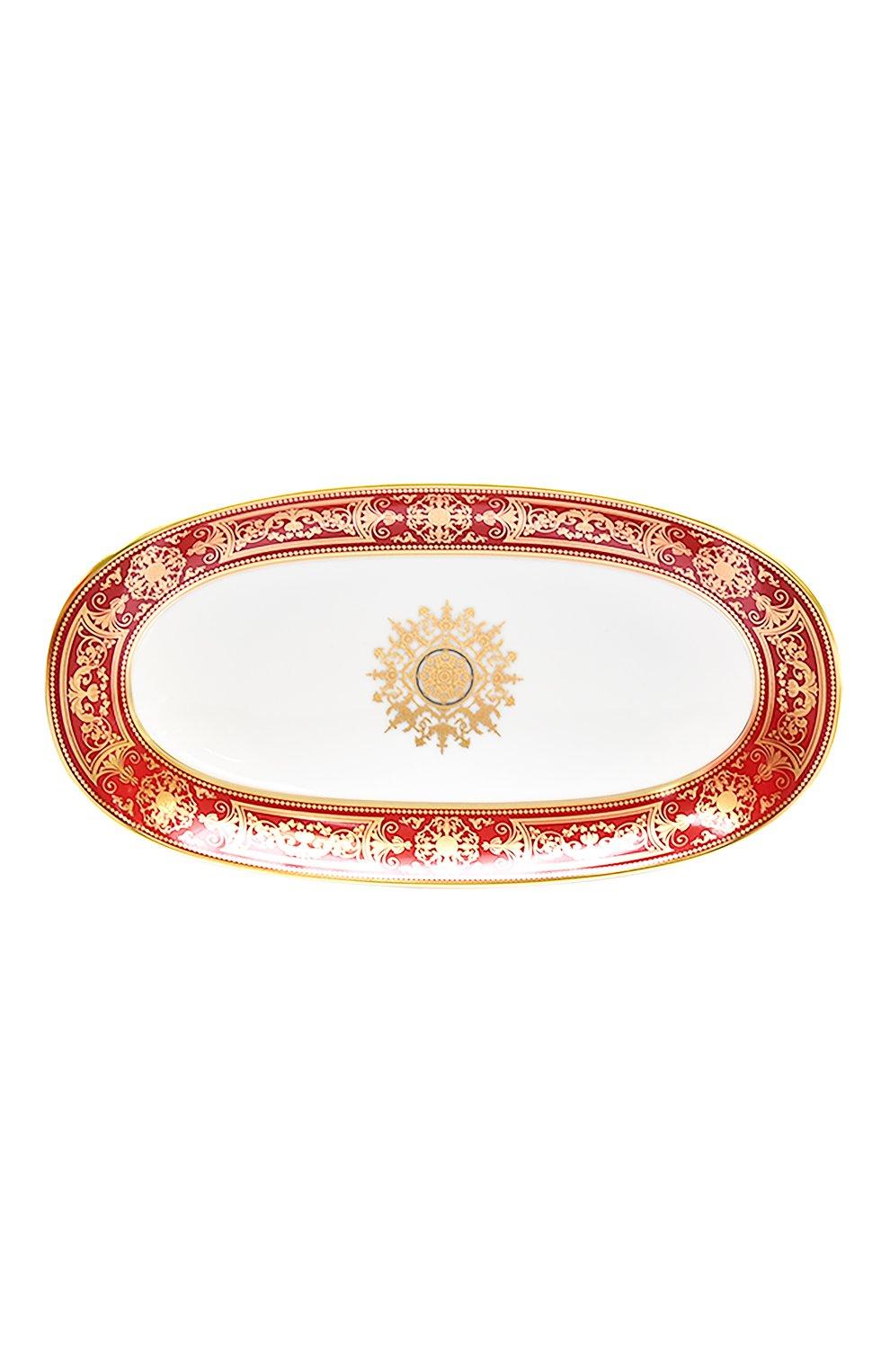 Мужского блюдо для солений aux rois rouge  BERNARDAUD красного цвета, арт. G653/125 | Фото 1