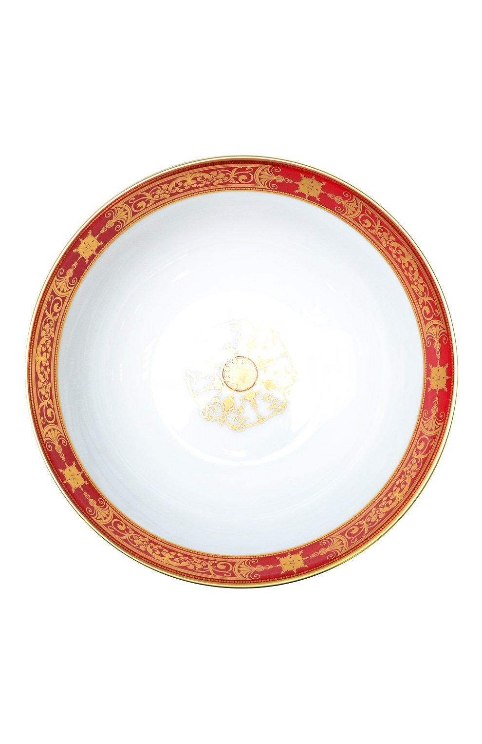 Мужского салатник aux rois rouge BERNARDAUD красного цвета, арт. G653/127 | Фото 1
