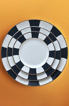Мужского тарелка для хлеба и масла galerie royal bleu nuit  BERNARDAUD темно-синего цвета, арт. 1856/3 | Фото 2