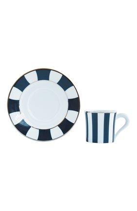 Мужская кофейная чашка с блюдцем galerie royal bleu nuit BERNARDAUD темно-синего цвета, арт. 1856/79 | Фото 1