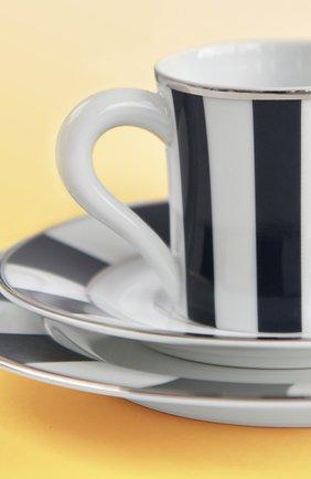 Кофейная чашка с блюдцем galerie royal bleu nuit BERNARDAUD темно-синего цвета, арт. 1856/79 | Фото 2