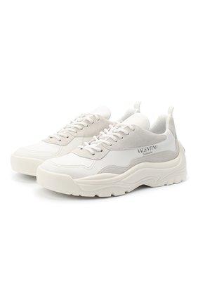 Мужские кожаные кроссовки valentino garavani gumboy VALENTINO белого цвета, арт. UY2S0B17/VRN | Фото 1