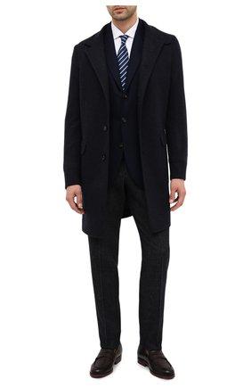 Мужской кашемировый пиджак BRUNELLO CUCINELLI темно-синего цвета, арт. ML8968J01 | Фото 2 (Случай: Коктейльный; Материал внешний: Шерсть, Кашемир; Рукава: Длинные; Длина (для топов): Стандартные; Стили: Классический; 1-2-бортные: Однобортные; Пиджаки М: Приталенный; Материал подклада: Купро)