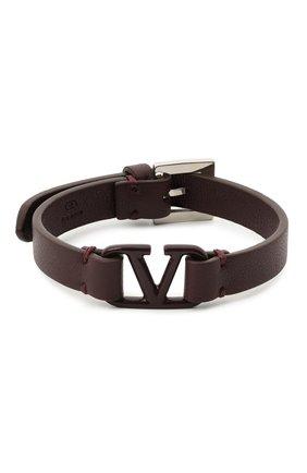 Мужской кожаный браслет valentino garavani VALENTINO бордового цвета, арт. UY2J0M67/ZZB | Фото 1