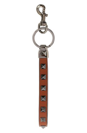 Мужской кожаный брелок valentino garavani VALENTINO коричневого цвета, арт. UY2P0550/VH3 | Фото 1