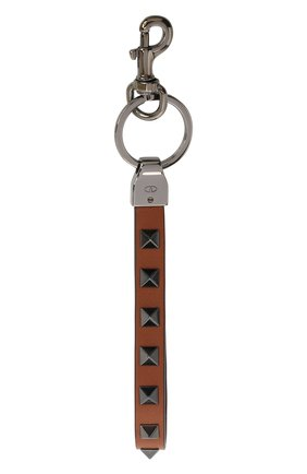 Мужской кожаный брелок valentino garavani VALENTINO коричневого цвета, арт. UY2P0550/VH3 | Фото 2
