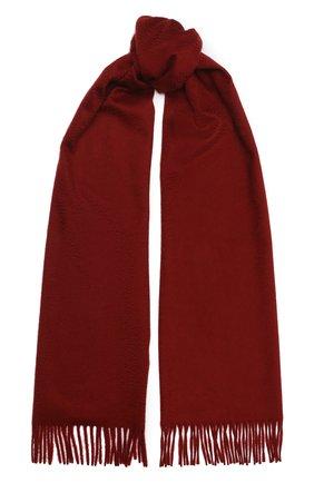 Мужской кашемировый шарф LORO PIANA красного цвета, арт. FAB9149 | Фото 1