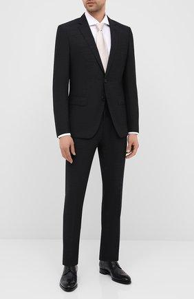 Мужской шерстяной костюм BOSS черного цвета, арт. 50432992 | Фото 1