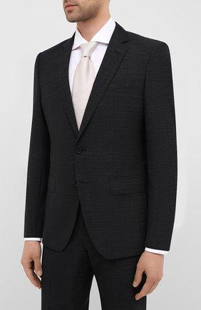 Мужской шерстяной костюм BOSS черного цвета, арт. 50432992 | Фото 2