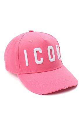 Мужской хлопковая бейсболка DSQUARED2 розового цвета, арт. BCM4001 05C00001 | Фото 1