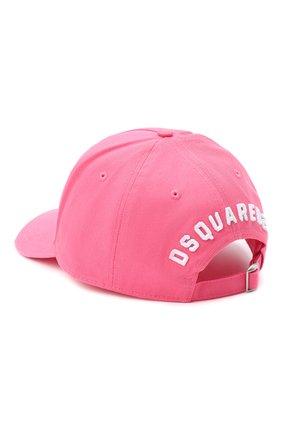 Мужской хлопковая бейсболка DSQUARED2 розового цвета, арт. BCM4001 05C00001 | Фото 2