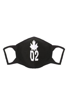 Мужская хлопковая маска для лица DSQUARED2 черно-белого цвета, арт. MAM0004 59203912 | Фото 2