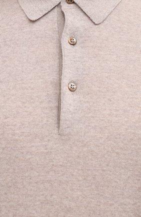 Мужское шерстяное поло GRAN SASSO бежевого цвета, арт. 45132/14790   Фото 5