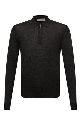 Мужское поло из шерсти и шелка GRAN SASSO темно-серого цвета, арт. 57137/13190 | Фото 1