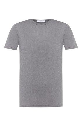 Мужская хлопковая футболка GRAN SASSO серого цвета, арт. 60155/74000 | Фото 1
