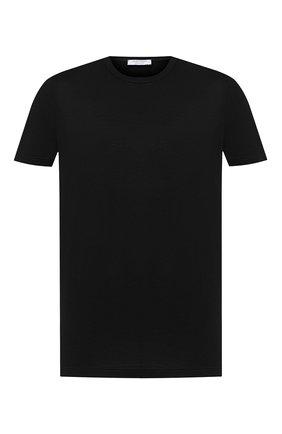 Мужская хлопковая футболка GRAN SASSO черного цвета, арт. 60155/74000 | Фото 1