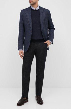 Мужской шерстяной джемпер GRAN SASSO темно-синего цвета, арт. 57152/14424 | Фото 2