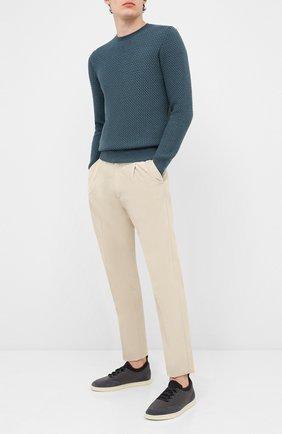 Мужской шерстяной свитер GRAN SASSO бирюзового цвета, арт. 57135/14280 | Фото 2