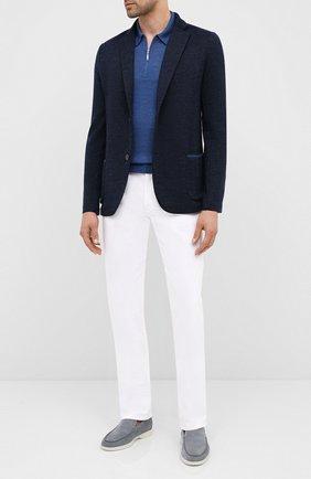 Мужской шерстяной пиджак GRAN SASSO синего цвета, арт. 57124/14229 | Фото 2