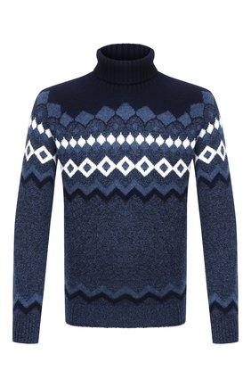 Мужской шерстяной свитер GRAN SASSO темно-синего цвета, арт. 13121/22613 | Фото 1