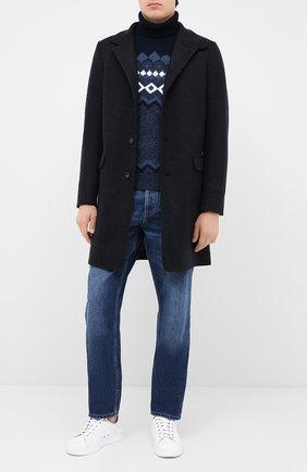 Мужской шерстяной свитер GRAN SASSO темно-синего цвета, арт. 13121/22613 | Фото 2