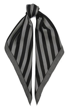 Женский шелковый платок GIORGIO ARMANI черно-белого цвета, арт. 795314/0A150 | Фото 1