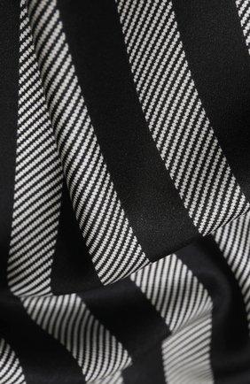 Женский шелковый платок GIORGIO ARMANI черно-белого цвета, арт. 795314/0A150 | Фото 2